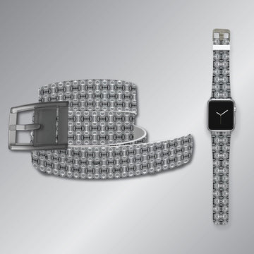 Bits Grey Belt & Apple Watch Band Bundle Product-Bundle C4 BELTS