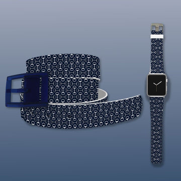 Bits Navy Belt & Apple Watch Band Bundle Product-Bundle C4 BELTS