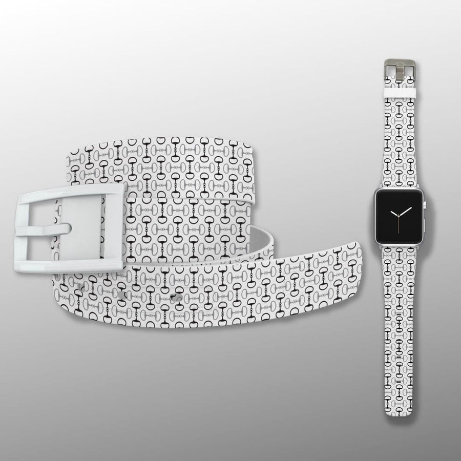 Bits White Belt & Apple Watch Band Bundle Product-Bundle C4 BELTS