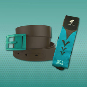 Brown Belt & Turquoise & Brown Riding Sock Bundle