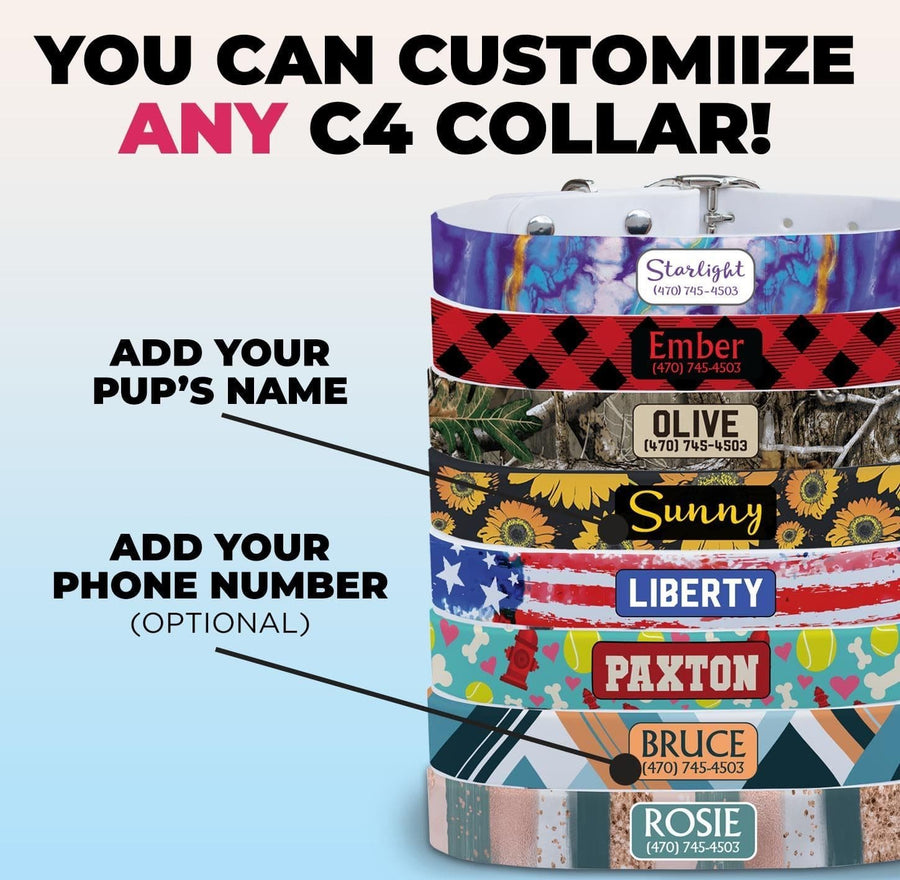 Red Black Stripes Dog Collar Dog Collar C4 BELTS