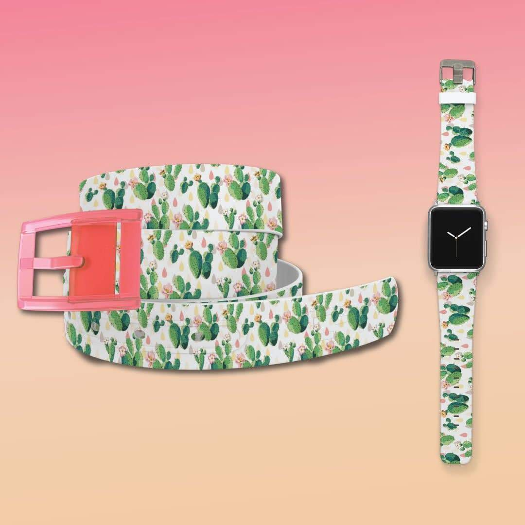 Cacti Belt & Apple Watch Band Bundle