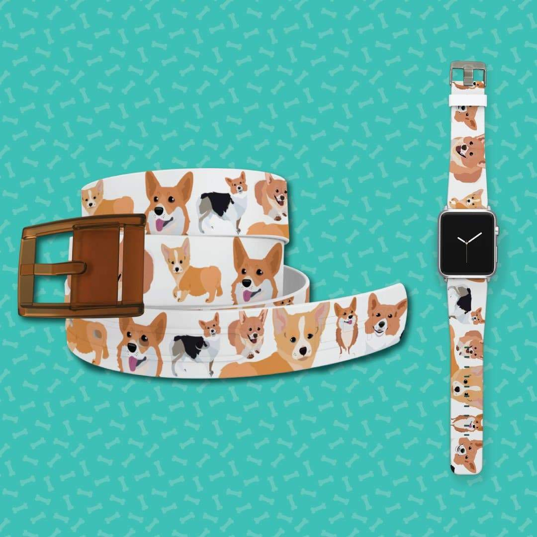 Corgi Belt & Apple Watch Band Bundle