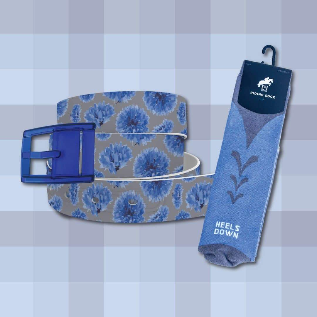 Cornflower Belt & Riding Sock Bundle