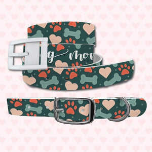 Dog Mom Belt & Favorite Child Dog Collar Bundle