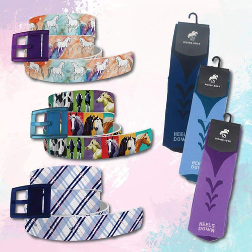 EQ Fun Belts & Riding Socks Bundle