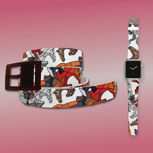 Horse on the L O O S E - Jumpers Belt & Apple Watch Band Bundle