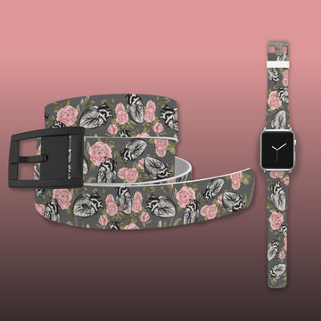 Hearts And Flowers Apple Watch Band and Belt Bundle Product-Bundle C4 BELTS