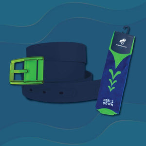 Navy Belt & Navy & Green Riding Sock Bundle