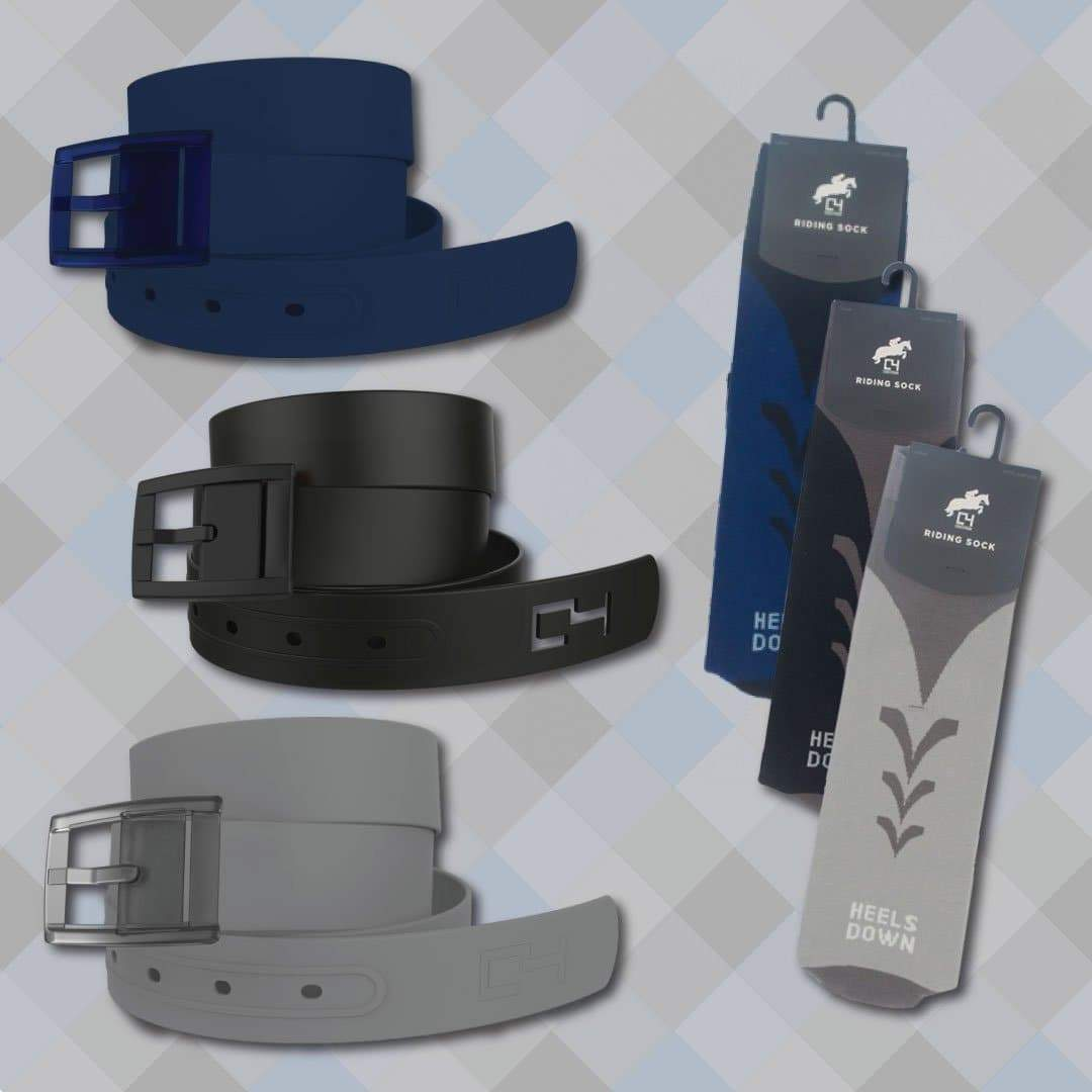Solid Belts & Riding Socks Bundle