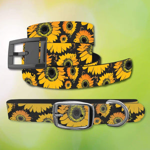 Sunflower Belt & Dog Collar Bundle