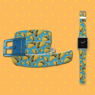 Tacos Blue Belt & Apple Watch Band Bundle Product-Bundle C4 BELTS