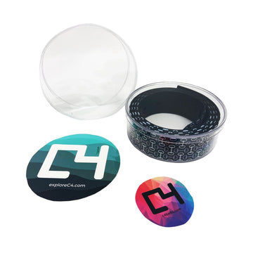 C4 Clear Case & 2 Stickers Accessories C4 BELTS