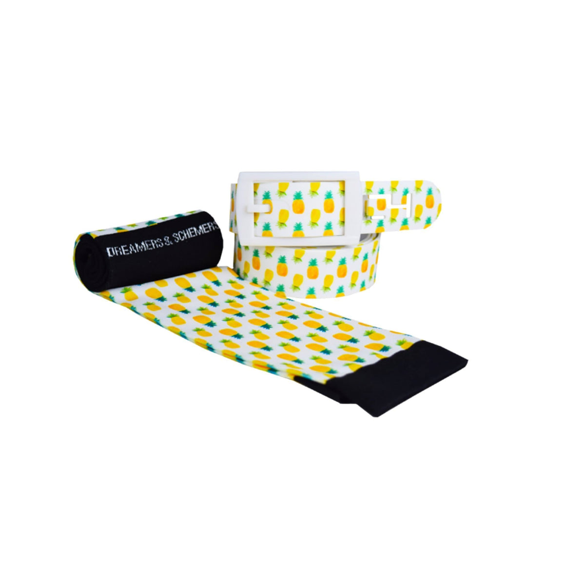 Dreamers & Schemers - Pineapple Belt & Sock Combo
