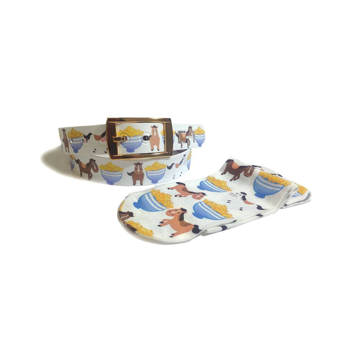 Dreamers & Schemers - Pony Macaroni Belt & Sock Combo