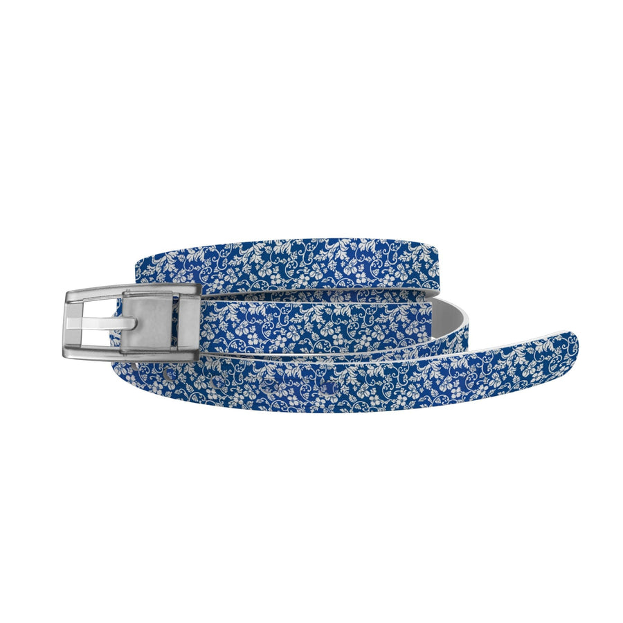 Blue Floral Skinny Belt-Skinny C4 BELTS