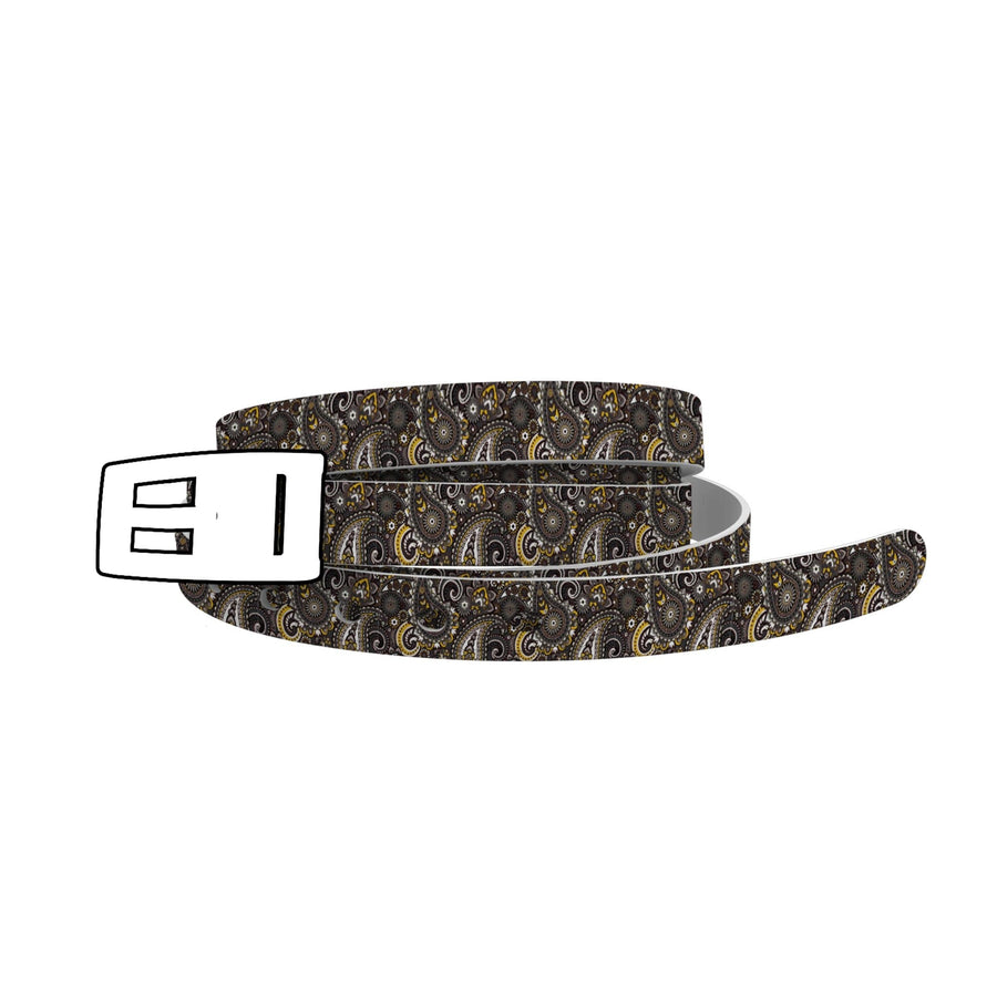 Paisley Black Skinny Belt-Skinny C4 BELTS