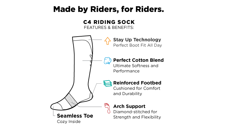 Socks - C4 Riding Socks - Baby Blue