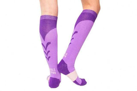 Image of Socks - Riding Sock Combo - Black, Grey, Purple