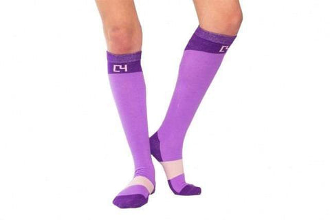 Socks - Riding Sock Combo - Black, Grey, Purple