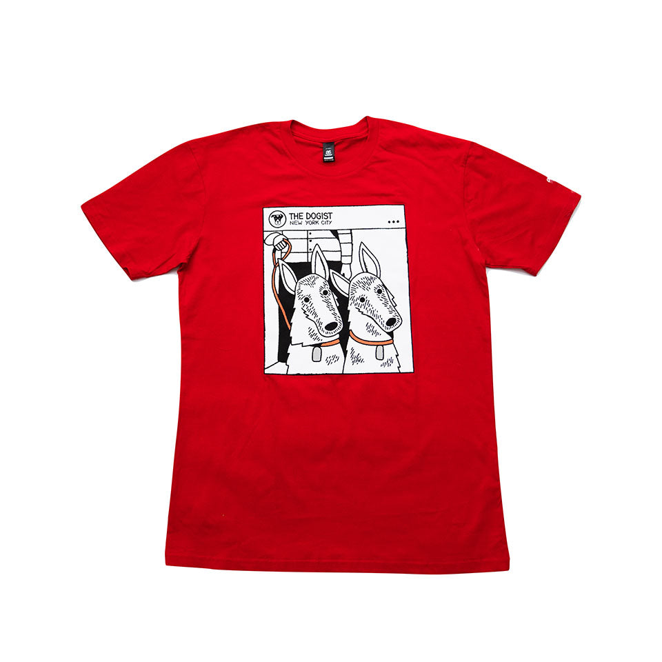 The Double Tilt Tee | Red