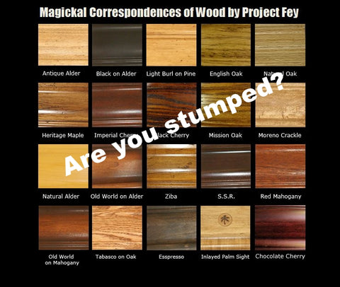 Magickal Properties of Wood from Project Fey for Pagans
