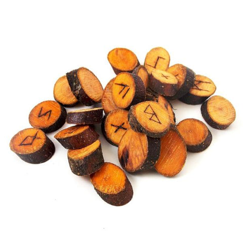 Apple Wood Rune Set: Elder Futhark