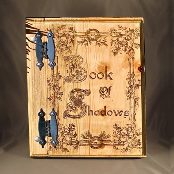 Blank Book of Shadows, solid wooden book of shadows, celtic book of shadow, blank book with celtic cover, grimoires and journals by Project Fey www.ProjectFey.com