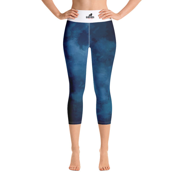 Blue Dark Yoga-Leggings - Gentiuss