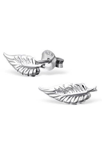925 Sterling Silver Feather Stud Earrings