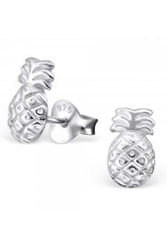 925 Sterling Silver Pineapple Stud Earrings