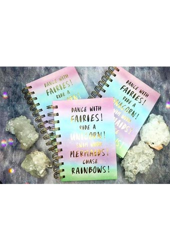 Affirmations, Manifestations & Gratitude Journal (Rainbow, Fairies, Unicorn)