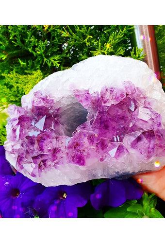 Amethyst Cluster Candle Holder - Large #1