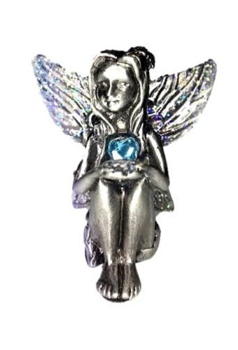 Aquamarine Birthstone Fairy Ornament - March