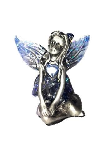 Blue Winged Turquoise Birthstone Fairy Ornament - December