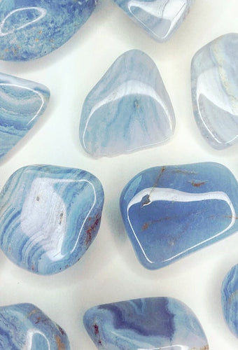 Blue Lace Agate Polished Stones