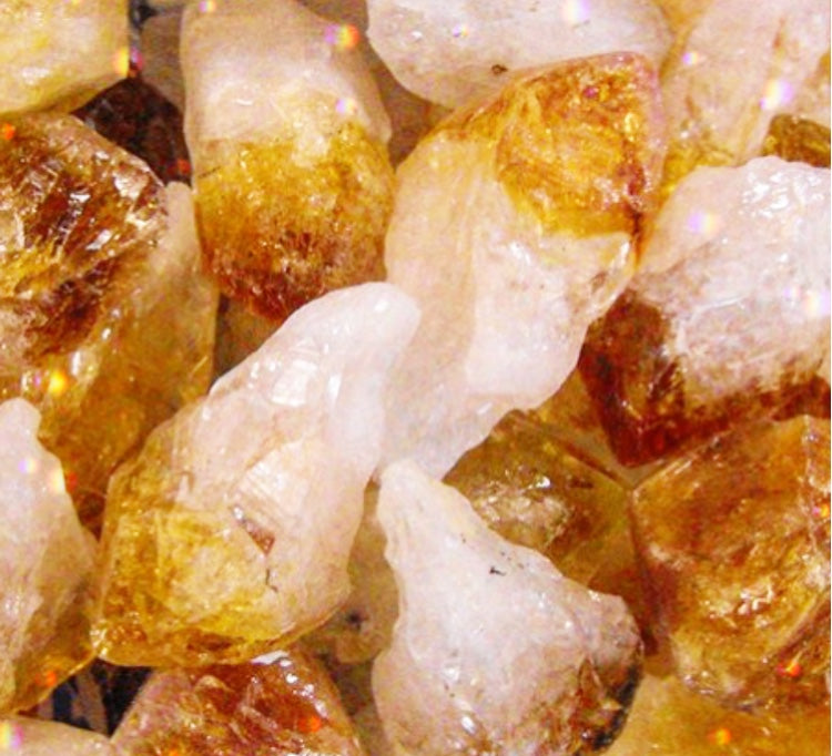 Raw Citrine Crystal Points