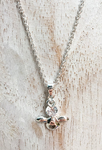 angel crystal necklace april birthstone