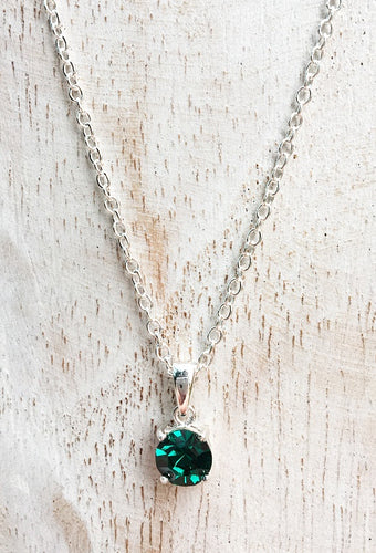 emerald crystal necklace may birthstone