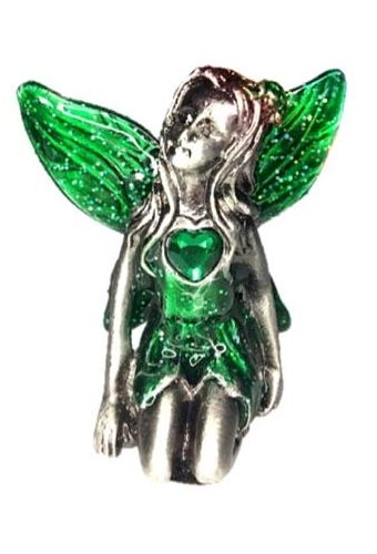 Green Winged Emerald Birthstone Fairy Ornament - May