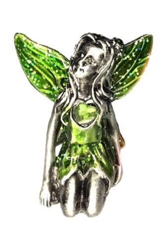 Green Winged Peridot Birthstone Fairy Ornament - August