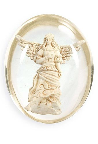 Guardian Angel Resin Stone With Pouch