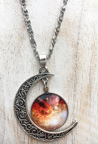 Wolf-Lundmark-Melotte Galaxy & Moon Necklace
