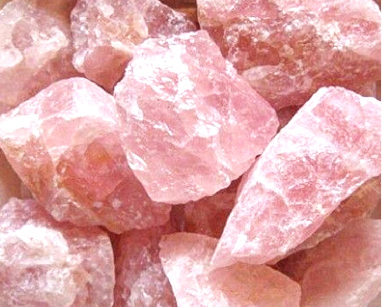 Rough Rose Quartz Stone - Medium