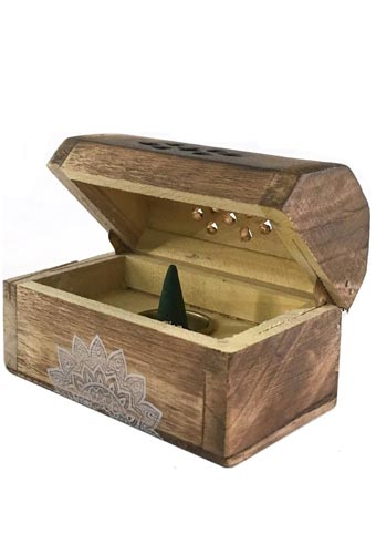 Jasmine Tea Esscents Incense Cone Chest