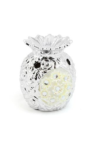 Silver Millie Pineapple Shaped Oil Burner / Candle Holder