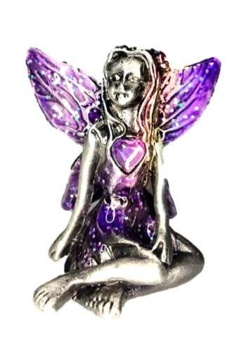 Purple Winged Alexandrite Birthstone Fairy Ornament - June