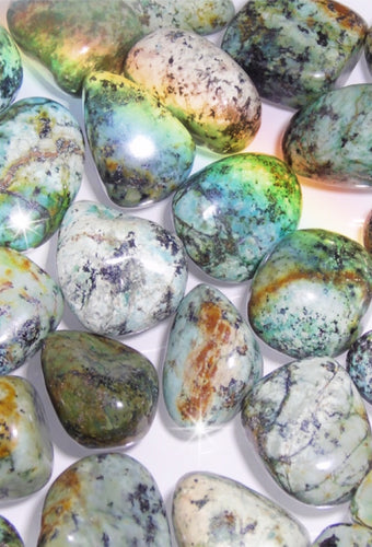 African Turquoise Tumbled Stones