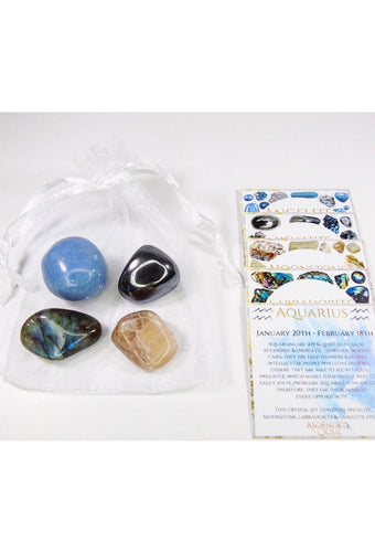 Aquarius Zodiac Crystal Bundle