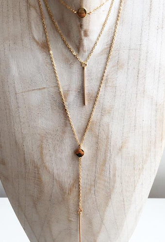 Gold Plated Multi Layer Necklace